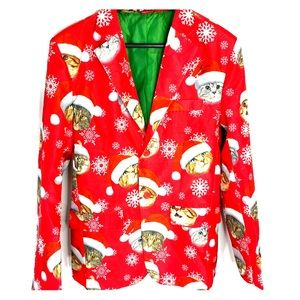 Christmas Holiday Cat Blazer